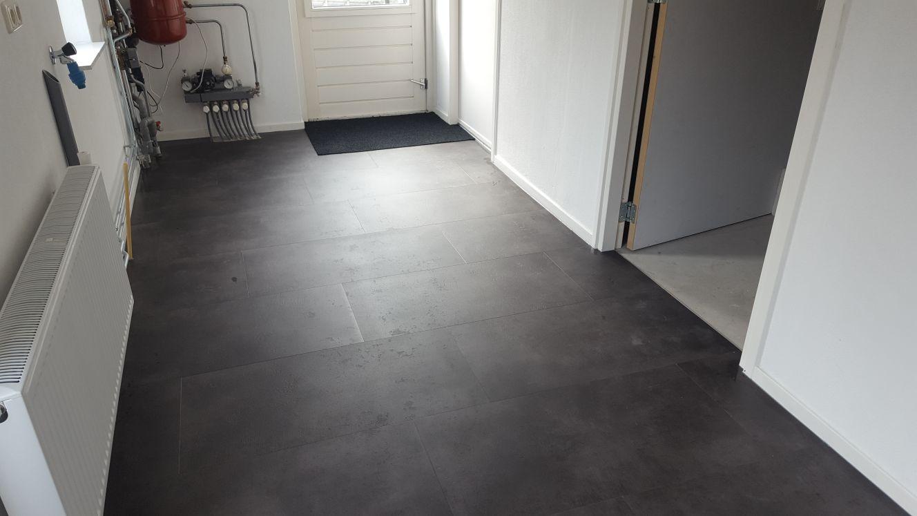 Antraciet Pvc Vloer : Ambiant concrete antracite mat  pvc vloer